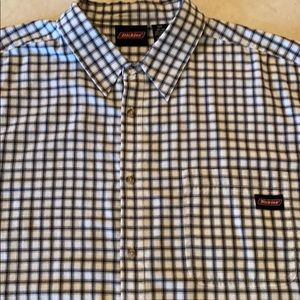Nwot dickies plaid shirt sleeve shirt